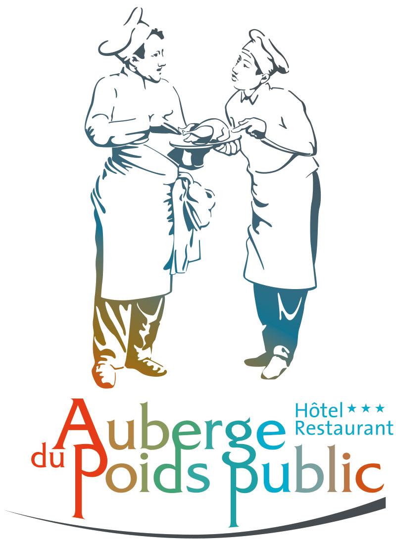 Auberge du Poids Public logo complet en couleur