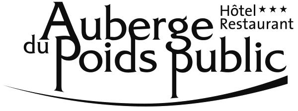 Auberge du Poids Public logo noir et blanc