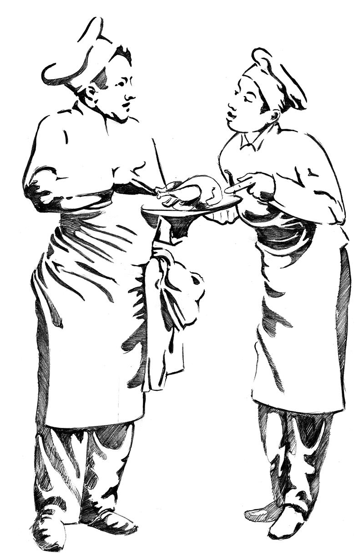 Dessin du logo de l'Auberge du Poids-public