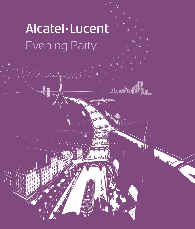 Illustration pour Evening party d'Alcatel-Lucent