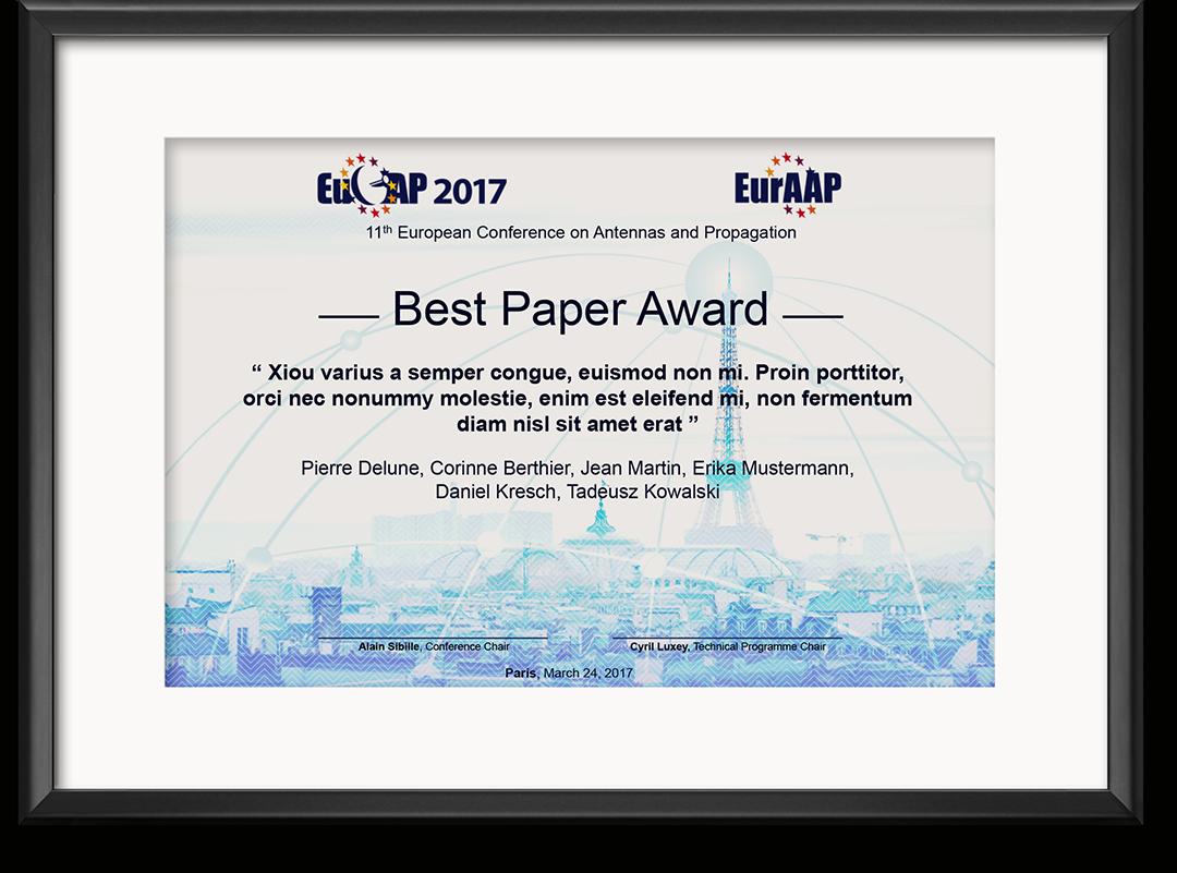 Eucap 2017 Award