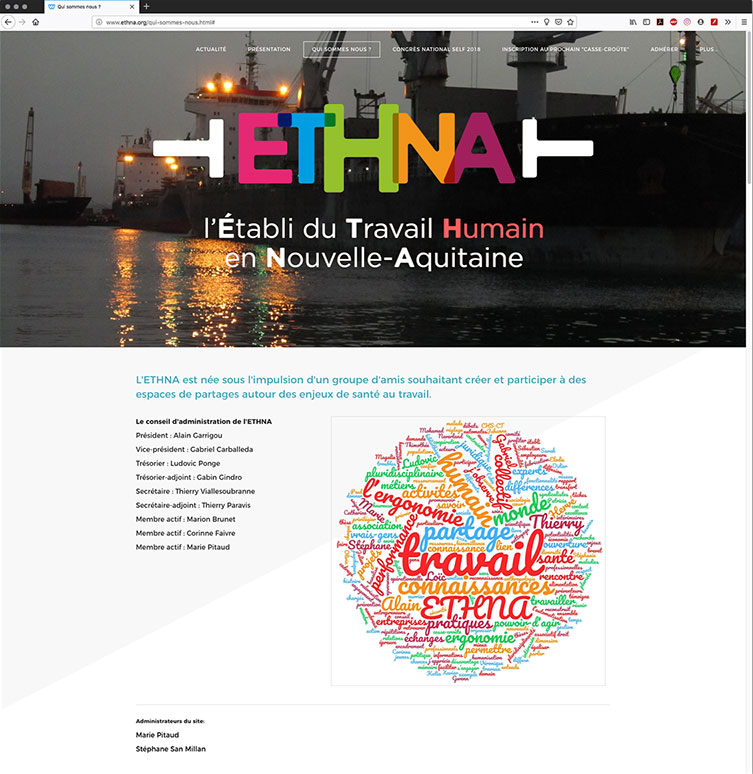 ETHNA site web